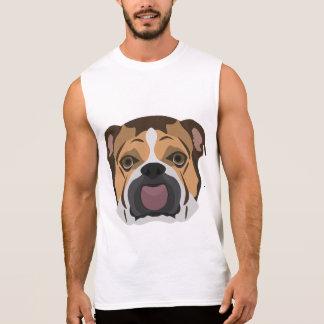Illustration English Bulldog Sleeveless Shirt