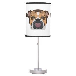 Illustration English Bulldog Table Lamp