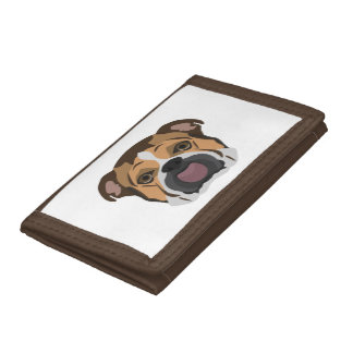 Illustration English Bulldog Tri-fold Wallets