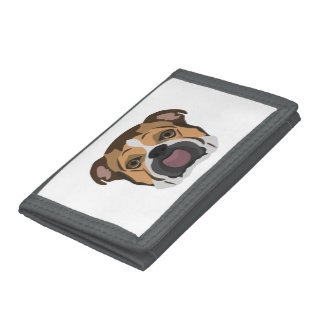 Illustration English Bulldog Trifold Wallet