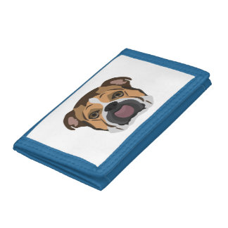 Illustration English Bulldog Trifold Wallets