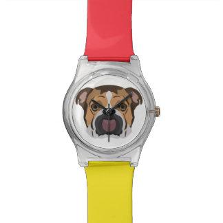 Illustration English Bulldog Watch