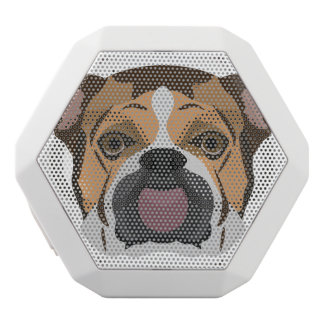Illustration English Bulldog White Bluetooth Speaker