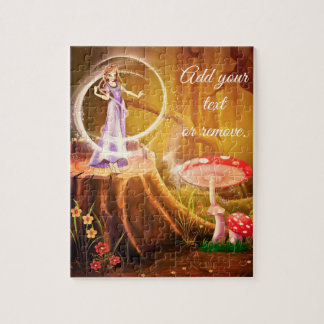 Illustration: fairy casting a magic spell scene, jigsaw puzzle