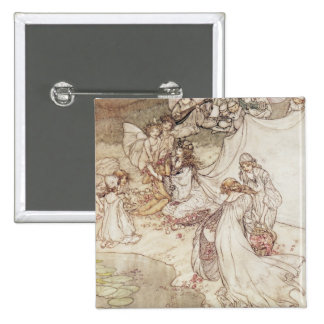Illustration for a Fairy Tale 2 Inch Square Button