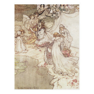 Illustration for a Fairy Tale Postcard