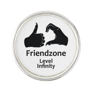 Illustration Friendzone Level Infinity Lapel Pin