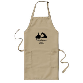 Illustration Friendzone Level Infinity Long Apron