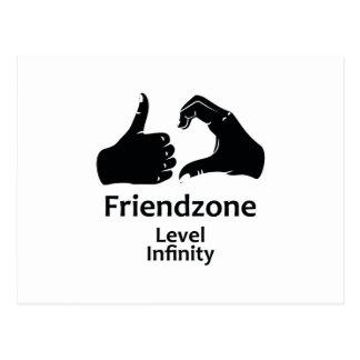 Illustration Friendzone Level Infinity Postcard