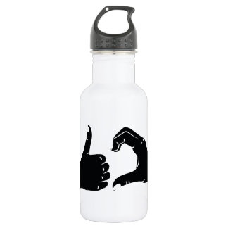 Illustration Friendzoned Hands Shape 532 Ml Water Bottle