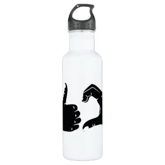 Illustration Friendzoned Hands Shape 710 Ml Water Bottle