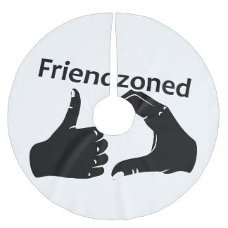 Illustration Friendzoned Hands Shape Brushed Polyester Tree Skirt