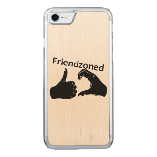 Illustration Friendzoned Hands Shape Carved iPhone 7 Case