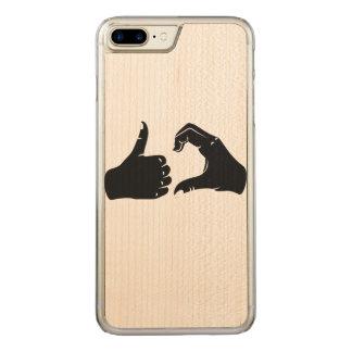 Illustration Friendzoned Hands Shape Carved iPhone 7 Plus Case