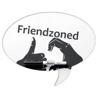 Illustration Friendzoned Hands Shape Dry Erase Boards