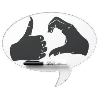 Illustration Friendzoned Hands Shape Dry Erase Whiteboard