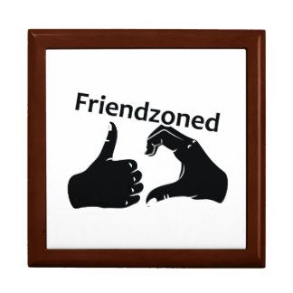 Illustration Friendzoned Hands Shape Gift Box