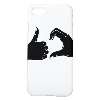 Illustration Friendzoned Hands Shape iPhone 7 Case