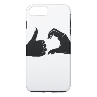 Illustration Friendzoned Hands Shape iPhone 8 Plus/7 Plus Case
