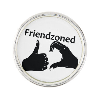 Illustration Friendzoned Hands Shape Lapel Pin