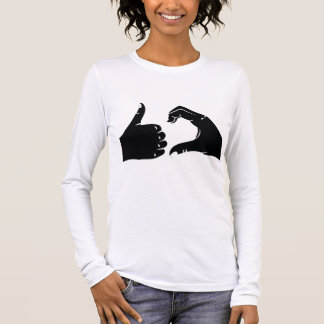 Illustration Friendzoned Hands Shape Long Sleeve T-Shirt