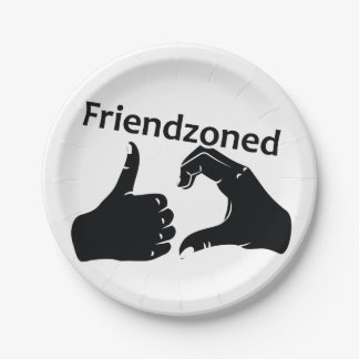 Illustration Friendzoned Hands Shape Paper Plate