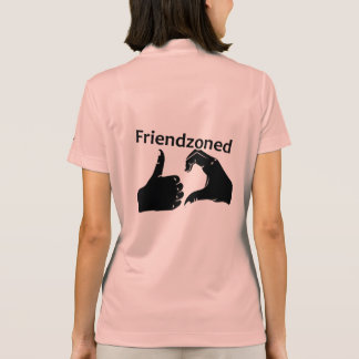 Illustration Friendzoned Hands Shape Polo Shirt