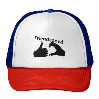 Illustration Friendzoned Hands Shape Trucker Hat