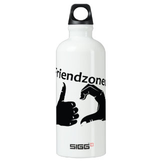 Illustration Friendzoned Hands Shape Water Bottle