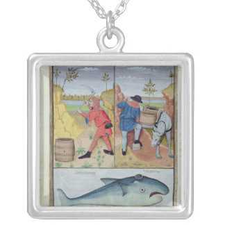 Illustration from the 'Book of Simple Medicines' Silver Plated Necklace