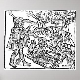 Illustration from the 'Kalendar of Shepherds' Poster