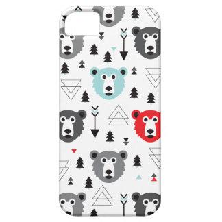 Illustration géométrique d'ours blanc de région coques Case-Mate iPhone 5