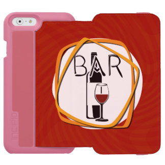 Illustration Glass of Wine in a bar Incipio Watson™ iPhone 6 Wallet Case