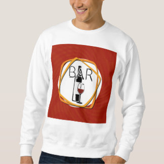 Illustration Glass of Wine in a bar Sweatshirt