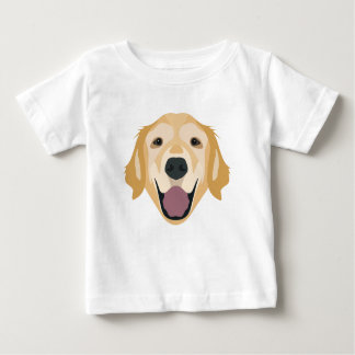 Illustration Golden Retriever Baby T-Shirt
