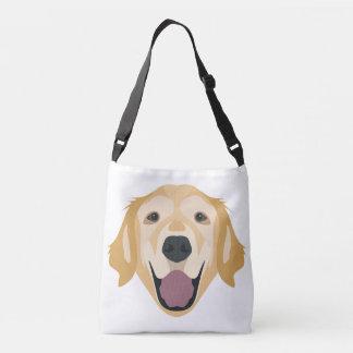 Illustration Golden Retriever Crossbody Bag