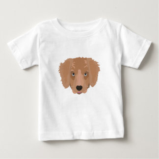Illustration Golden Retriever Puppy Baby T-Shirt