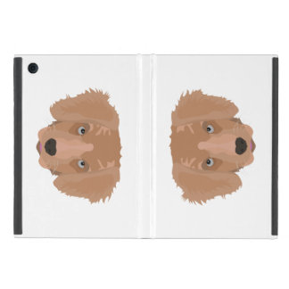 Illustration Golden Retriever Puppy iPad Mini Cover