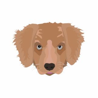 Illustration Golden Retriever Puppy Photo Sculpture Ornament