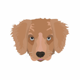Illustration Golden Retriever Puppy Standing Photo Sculpture