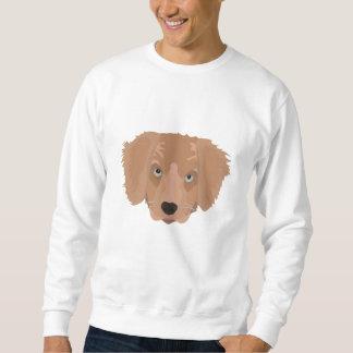 Illustration Golden Retriever Puppy Sweatshirt