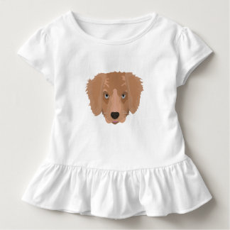Illustration Golden Retriever Puppy Toddler T-shirt