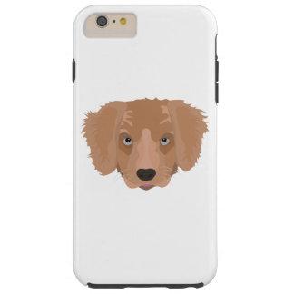 Illustration Golden Retriever Puppy Tough iPhone 6 Plus Case