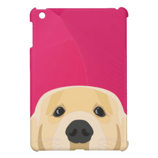 Illustration Golden Retriver with pink background Case For The iPad Mini