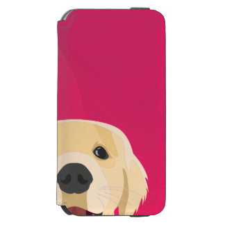 Illustration Golden Retriver with pink background Incipio Watson™ iPhone 6 Wallet Case