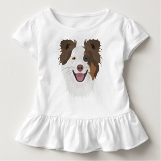 Illustration happy dogs face Border Collie Toddler T-shirt
