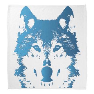 Illustration Ice Blue Wolf Bandana