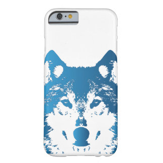 Illustration Ice Blue Wolf Barely There iPhone 6 Case