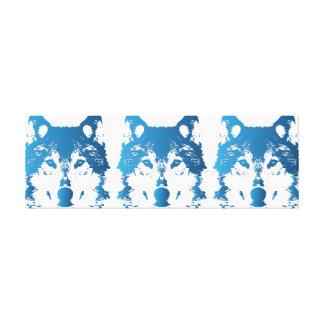 Illustration Ice Blue Wolf Canvas Print