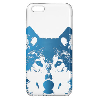 Illustration Ice Blue Wolf Case For iPhone 5C